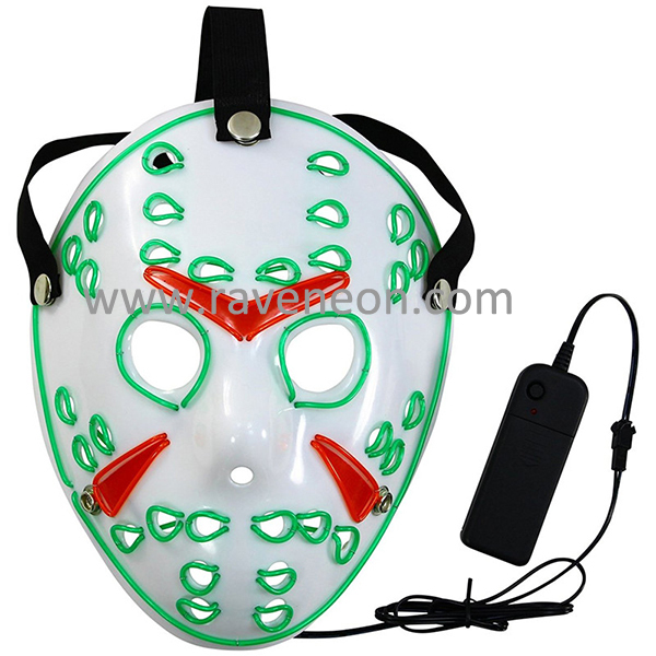 Glowing Nightmare Before Christmas Mask Glowing Clown Mask