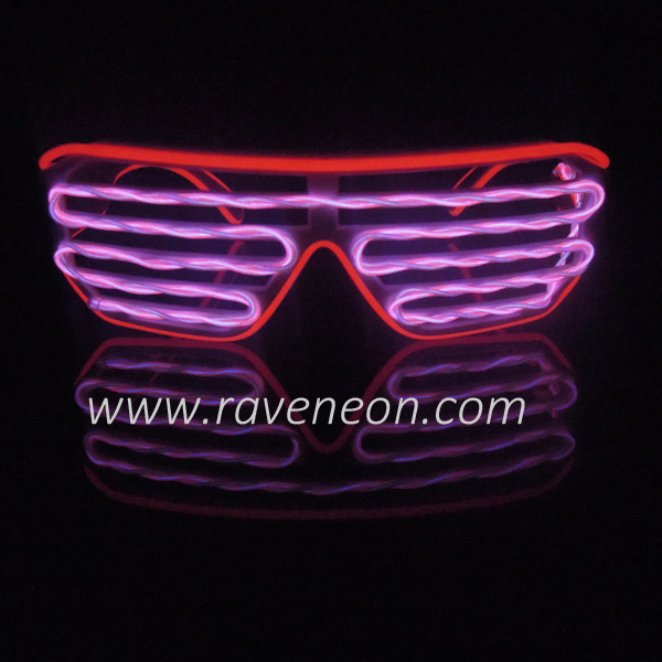 El Wire Shutter Shades Burnning Man Glasses Pixel Ring Glasses ...
